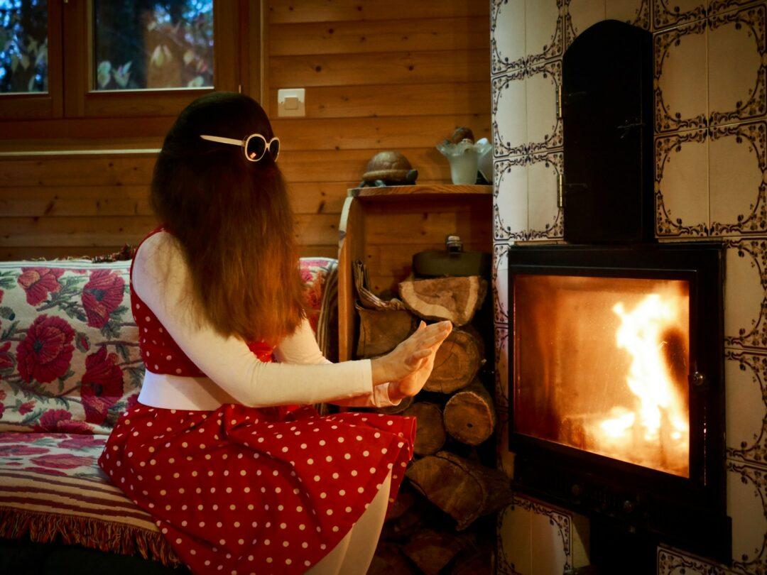 Choubaka profite enfin du feu de cheminée