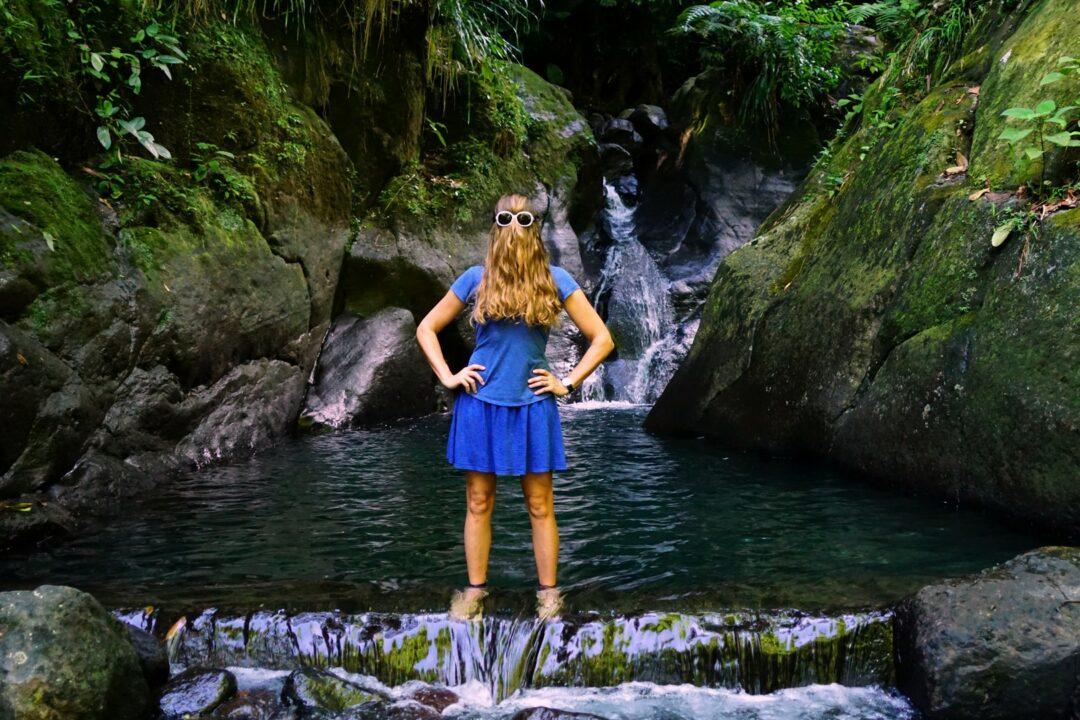 Le bassin bleu à Gourbeyre