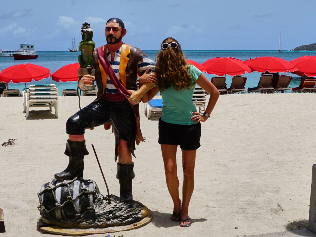 Choubaka à Philipsburg avec le pirate des Caraïbes