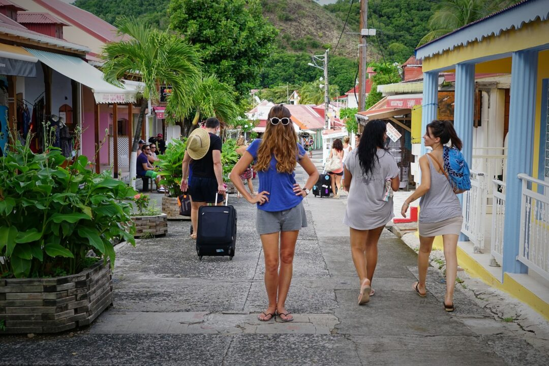 Choubaka dans les rues de Terre-de-Haut